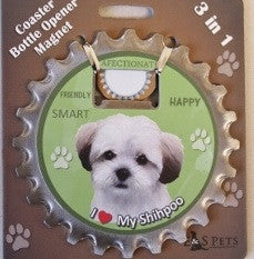 Bottle Ninja 3 in 1 Coaster/Bottle Opener/Magnet - Shihpoo