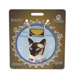 Bottle Ninja - 3 in 1 Coaster/Bottle Opener/ Magnet - Siamese