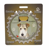Bottle Ninja - 3 in 1 Coaster/Bottle Opener/ Magnet - Wire Fox Terrier