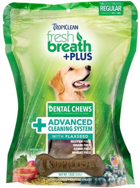 tropiclean dental chews advanced cleaning system flaxseed