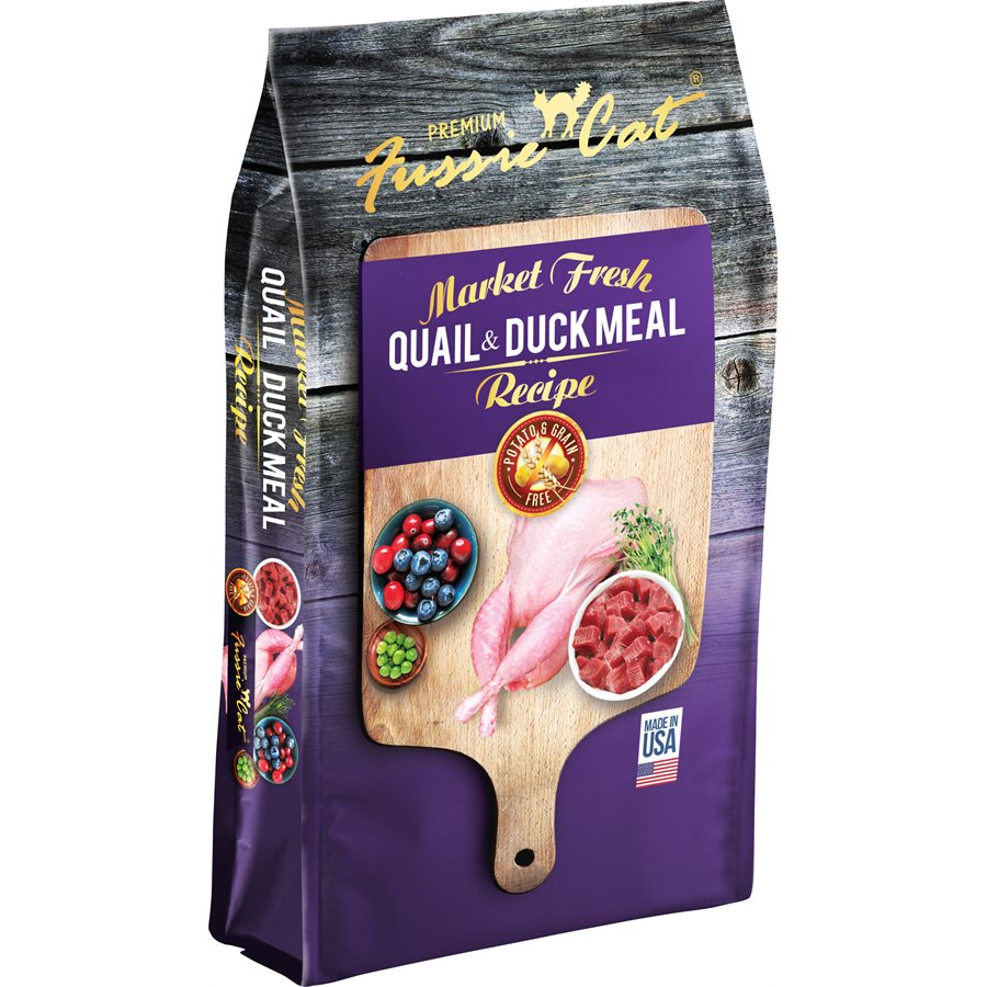 Fussie Cat - Market Fresh - Grain Free Quail & Duck Meal - Dry Cat Food