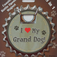 Bottle Ninja - 3 in 1 Magnets - I love my Grand Dog!
