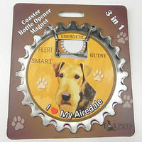 Bottle Ninja - 3 in 1 Magnets - Airedale