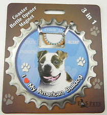 Bottle Ninja - 3 in 1 Magnets - American Bulldog