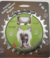 Bottle Ninja - 3 in 1 Magnets - Chinese Crested