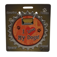 Bottle Ninja - 3 in 1 Magnets - I love my dogs!