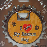 Bottle Ninja - 3 in 1 Magnets - I love my rescue dog!