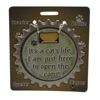Bottle Ninja - 3 in 1 Magnets - It's a cat's life...