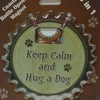 Bottle Ninja - 3 in 1 Magnets - Keep calm and hug a dog