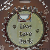 Bottle Ninja - 3 in 1 Magnets - Live Love Bark