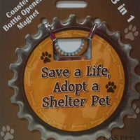 Bottle Ninja - 3 in 1 Magnets - Save a life, adopt a shelter pet