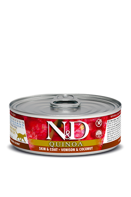 N&D Quinoa Cat Skin & Coat Venison & Coconut 2.8 oz