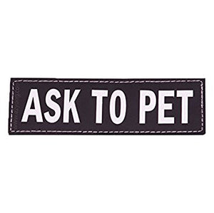 EzyDog - Harness Side Patch - Ask To Pet