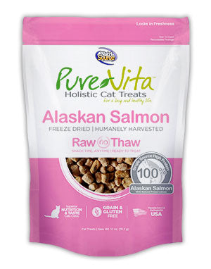 Pure Vita Freeze Dried Alaskan Salmon Delights for Cats