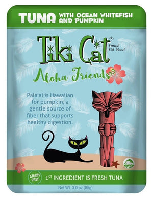 Tiki Cat - Aloha Friends Pouch - Tuna with Ocean Whitefish and Pumpkin