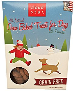 Cloudstar - Oven Baked Treats for Dogs - Grain Free with Pumpkin 14oz