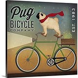 Wall Art - Pug on a Bike