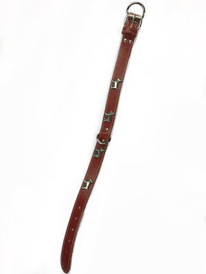 D-Ring Red Leather Collar 16