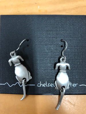 Chelsea Pewter Dog Tail earrings
