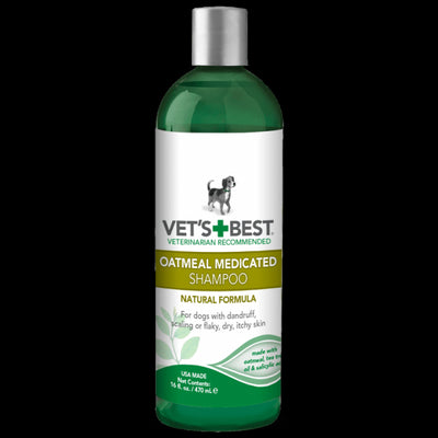 vets best oatmeal medicated shampoo dog
