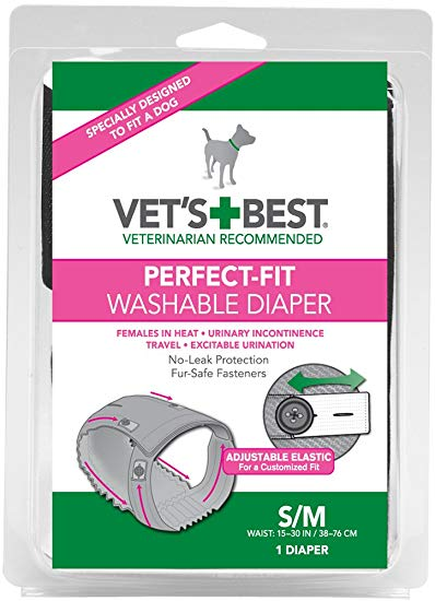 Vets Best Perfect Fit Wash Female Diaper Small Medium 1 Pack