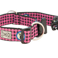 RC Pets - Wide Clip Collar - Pink Buffalo Plaid