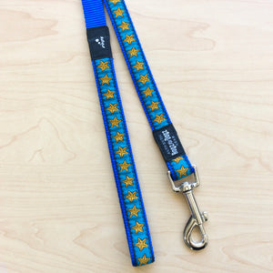 Rogz stars blue leash