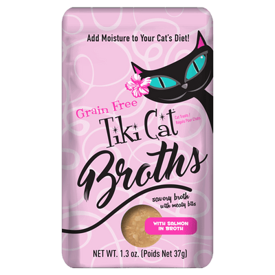 Tiki Cat  Broth - With Salmon In Broth 12 pouches of 1.3 oz