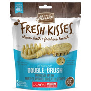 Merrick Fresh Kisses Grain-Free Mint Breath Strips Medium Brush Dental Dog Treats, 6 Ct