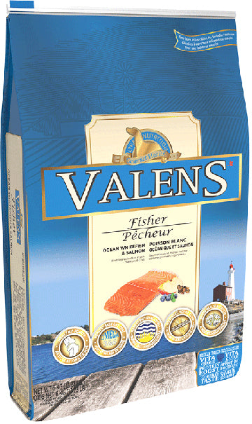 valens fisher dog food ocean whitefish and salmon