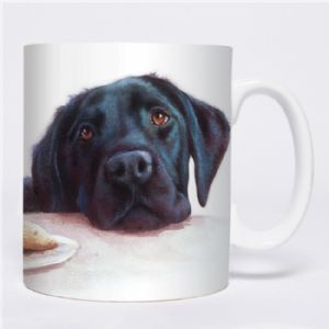 otter house gift countryside collection black lab mug