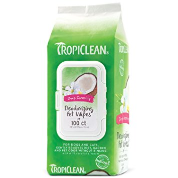 tropiclean deep cleaning deodorizing pet wipes