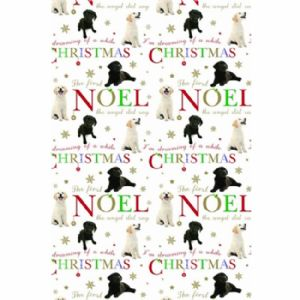 labrador christmas wishes gift wrap