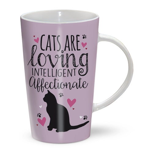 cats are loving intelligent affectionate latte mug