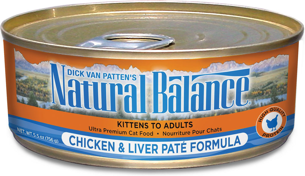 Natural Balance Chicken & Liver Canned Cat Cans