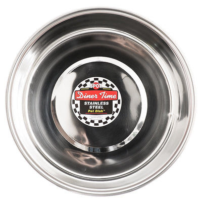 Spot Dinner Time Stainless Steel Pet Dish