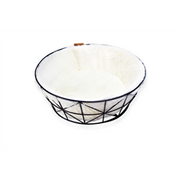 Be One Breed Cat Metal Wire Basket and Foam Cushion