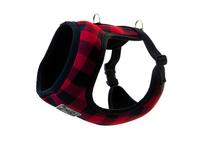 RC Pets  Step-In Cirque Harness  Red Buffalo Plaid (NEW)