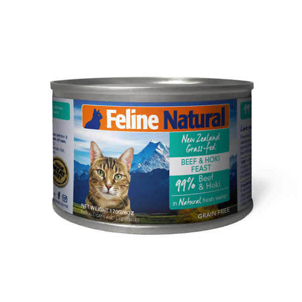 Feline Natural - Canned Cat Food - Beef & Hoki