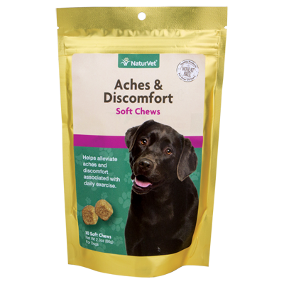 naturvet aches and discomfort soft chews for dogs
