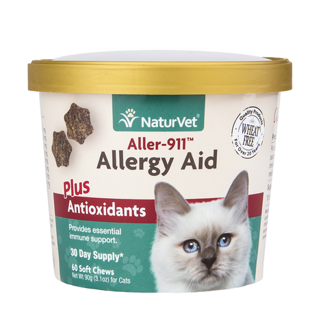 naturvet aller 911 allergy aid cat soft chews