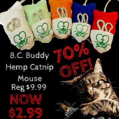 B.C Buddy Hemp Catnip Mouse SALE