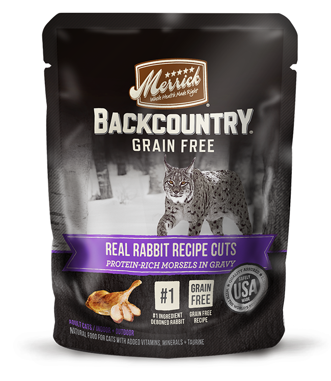 Merrick - Back Country - Wet Cat Food - Real Rabbit Cuts