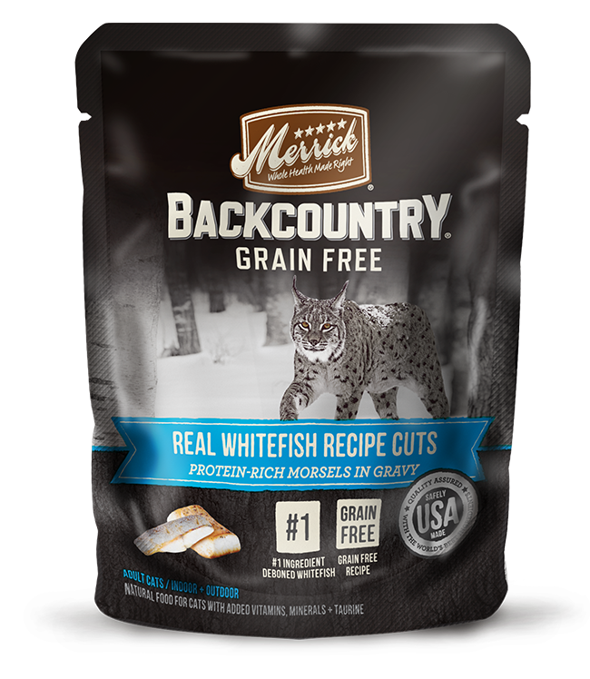 Merrick - Back Country - Wet Cat Food - Real Whitefish Cuts