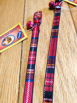 Pet Pro Red Tartan Cat Collar SALE