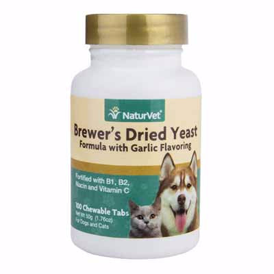 naturvet brewers yeast with garlic flavoring