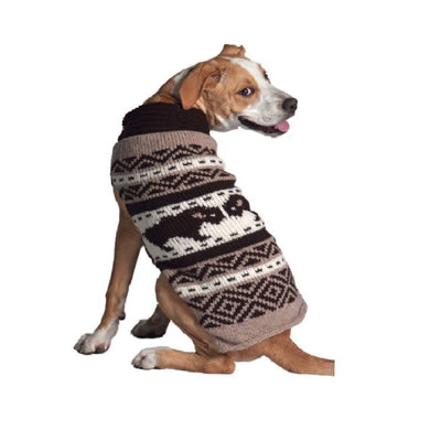 Chilly Dog Sweater - North Pole Brown Bison - SALE