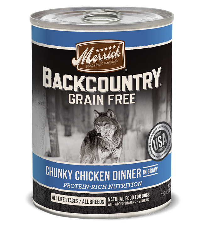 Merrick Backcountry Chunky Chicken Dinner Dog Food