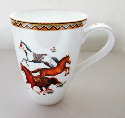 Best Home Porcelain - Horses Mug