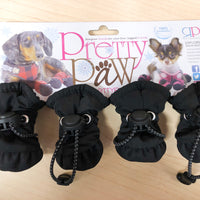 Pretty Paw Snow Explorer winter boots for dogs black